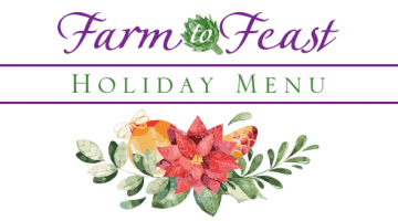 The 2018 Holiday Menu is Here